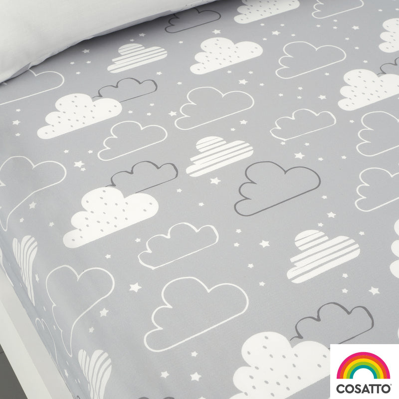 Cosatto Fairy Clouds 2 Pack Fitted Cotton Single Bed Sheets
