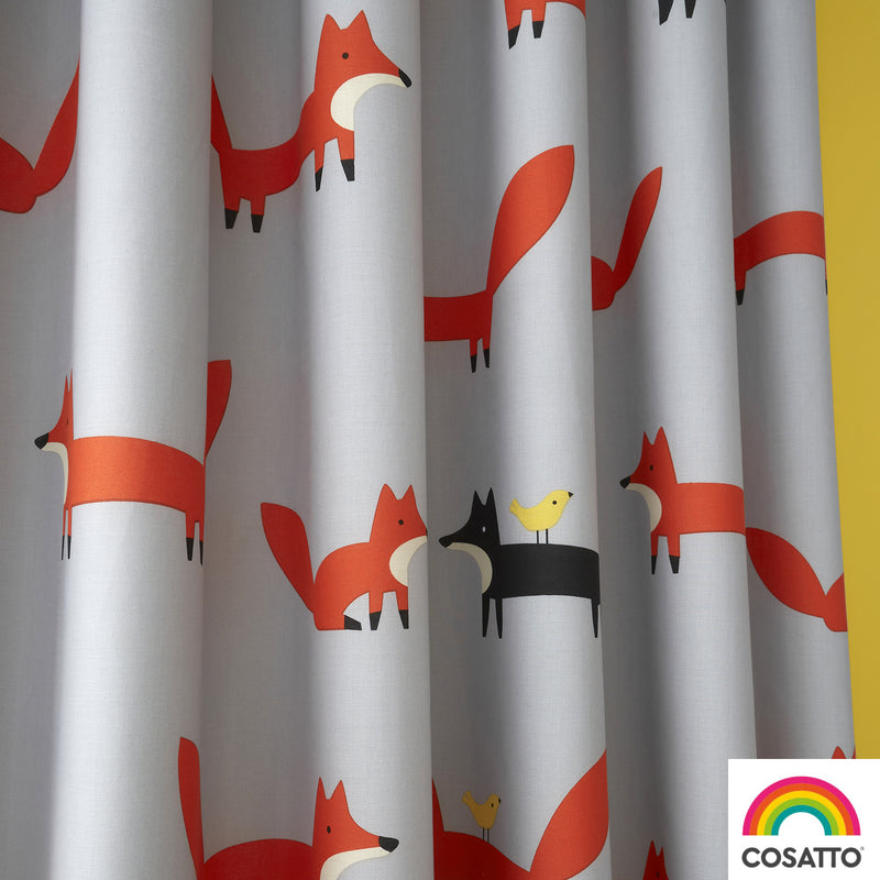 "Cosatto Mister Fox Pencil Pleat Curtains - 66"" Width x 72"" Drop"