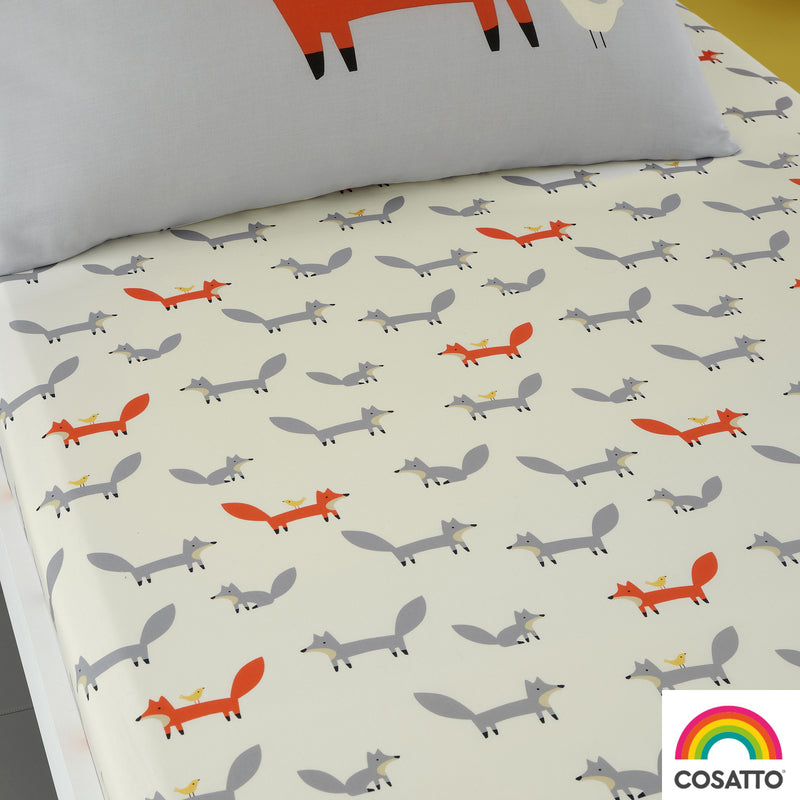 Cosatto Mister Fox 2 Pack Fitted Cotton Junior/Toddler Bed Sheets