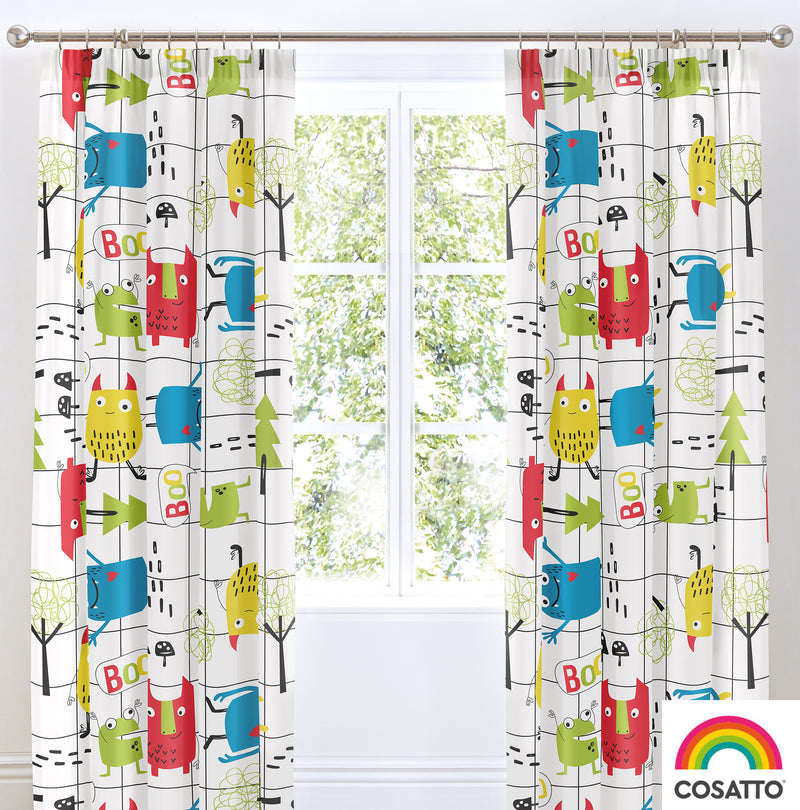 "Cosatto Monster Mob Pencil Pleat Curtains - 66"" Width x 72"" Drop"