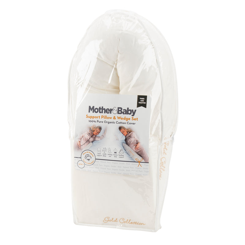 Mother&Baby Organic Cotton Support Pillow & Wedge Set
