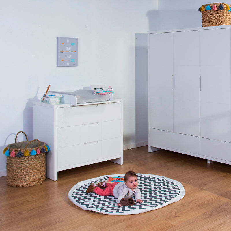 Childhome Quadro 3pc Set - Cot Bed, Dresser & Wardrobe