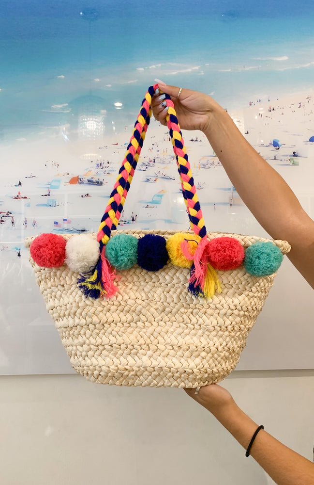 Pom-pom Summer Purse