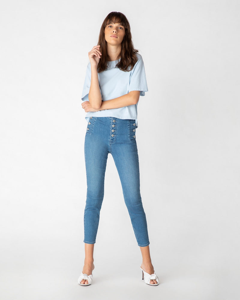 Load image into Gallery viewer, Natasha Sky High Cropped Skinny Denim
