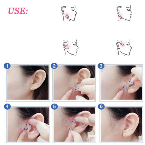 100 Pcs/Set Invisible Thin Face