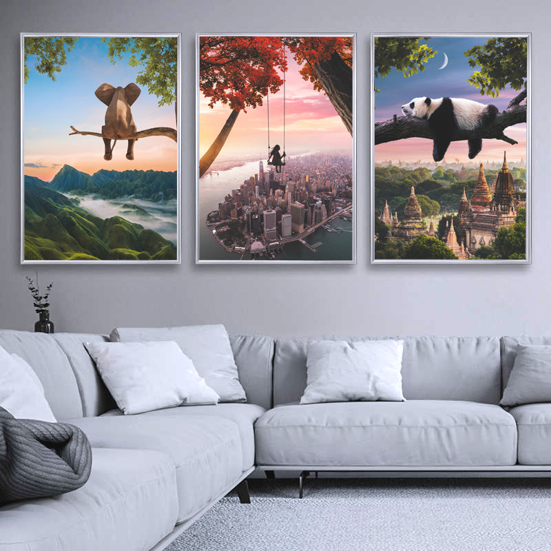 Magical and visual wall art designs for home decoration. High Quality posters full of creativity and imagination with wildlife, landscapes, nature and visual compositions.