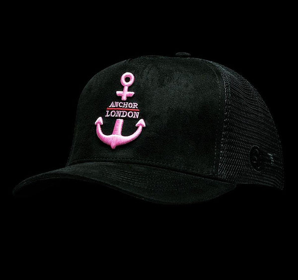 Anchor London Logo Suede Trucker Black Pink - Anchor London