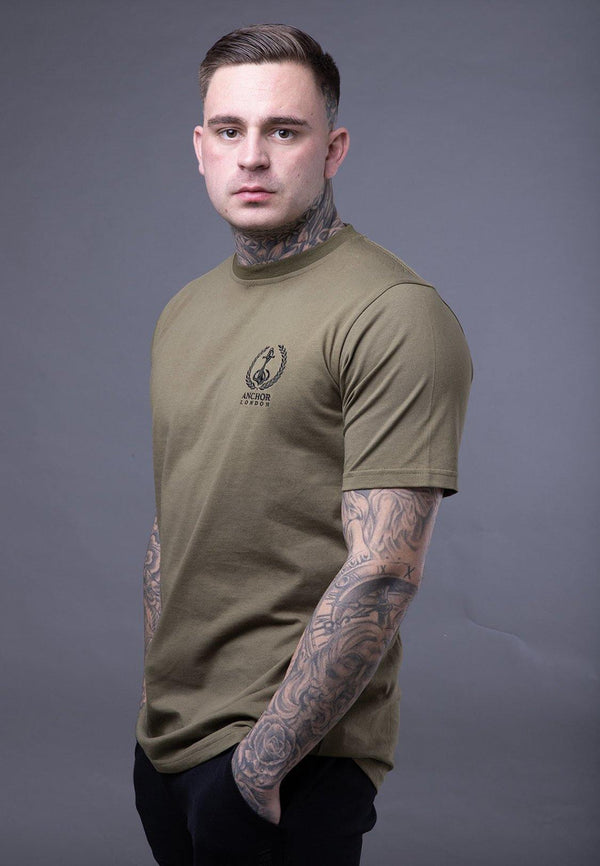Anchor London FL Logo Army Green T-shirt - Anchor London