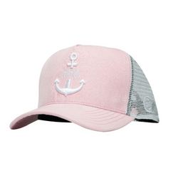 Anchor London Logo Suede Trucker Pink/White - Anchor London