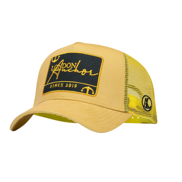 Anchor London Yellow/ Black Est Badge Trucker - Anchor London