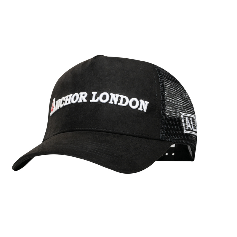 Anchor London Word Suede Trucker Black / White - Anchor London