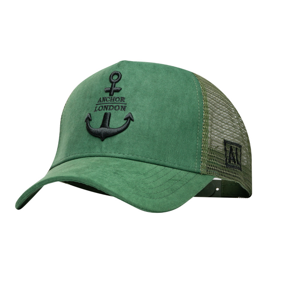 Anchor London Army Green / Black Logo Hat - Anchor London