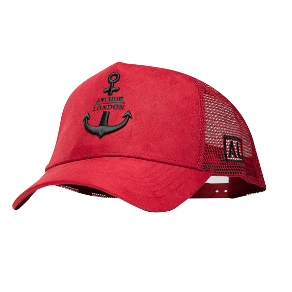 Anchor London Logo Suede Trucker Red / Black - Anchor London