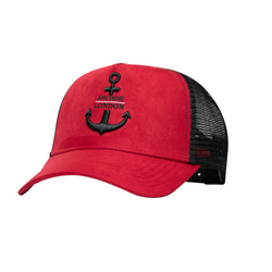 Anchor London Logo Suede Trucker Red/Black - Anchor London