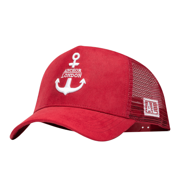 Anchor London Logo Suede Trucker Red / White - Anchor London