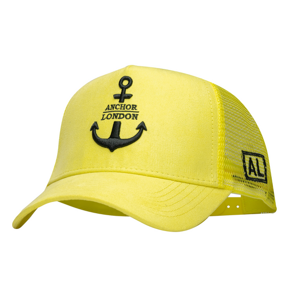 Anchor London Logo Suede Trucker Yellow/Black - Anchor London