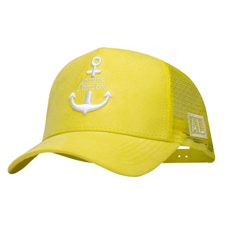 Anchor London Logo Suede Trucker Yellow/White - Anchor London