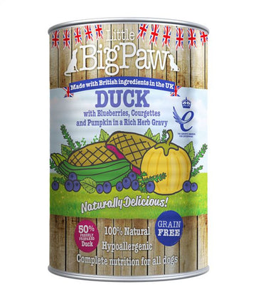 Little Big Paw Dog Duck 390g Tin