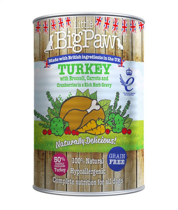 Little Big Paw Dog Turkey 390g Tin