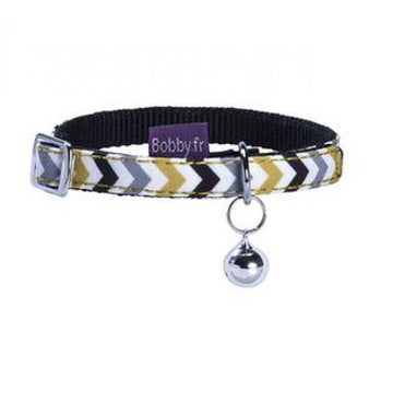 ZIGZAG CAT COLLAR - BLACK