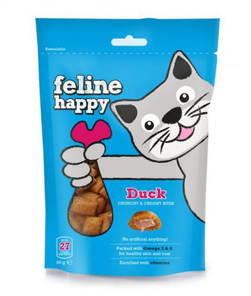 Feline Happy Cat Treats Duck (60g)