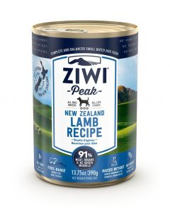 ZiwiPeak Lamb Recipe Canned Dog Food (390g)