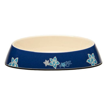Rogz Cat Fishcake Bowl Blue Floral