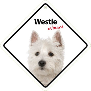WESTIE ON BOARD SIGN