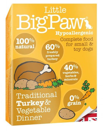 Little Big Paw Dog Turkey & Vegetable Dinner (150g)