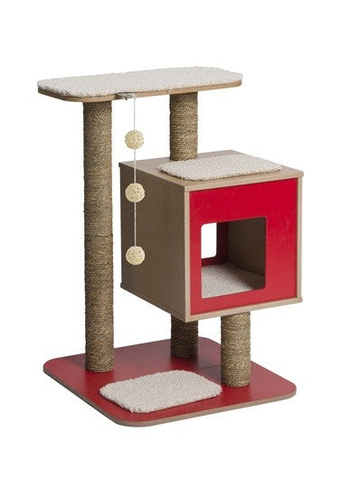PREMIUM CAT FURNITURE V- BASE - RED (4605523558453)