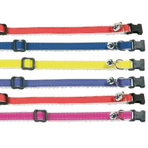 Flamingo Cat Collar Lined Bright