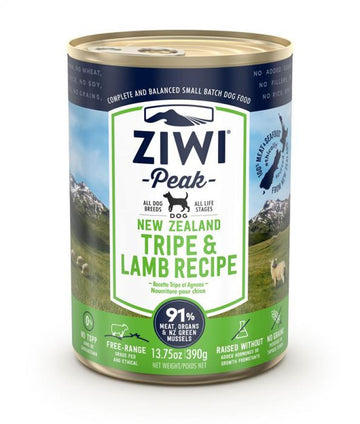 ZiwiPeak Tripe & Lamb Recipe Canned Dog Food 390g