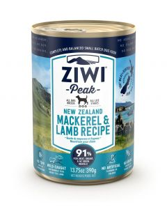 ZiwiPeak Mackerel & Lamb Recipe Canned Dog Food (390g)