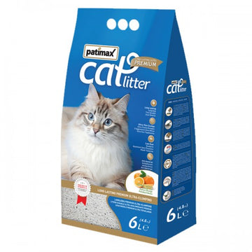 PATIMAX U/PREMIUM BENTONITE+ZEOLITE CATLITTER 6L (ORANGE ) 4.8KG