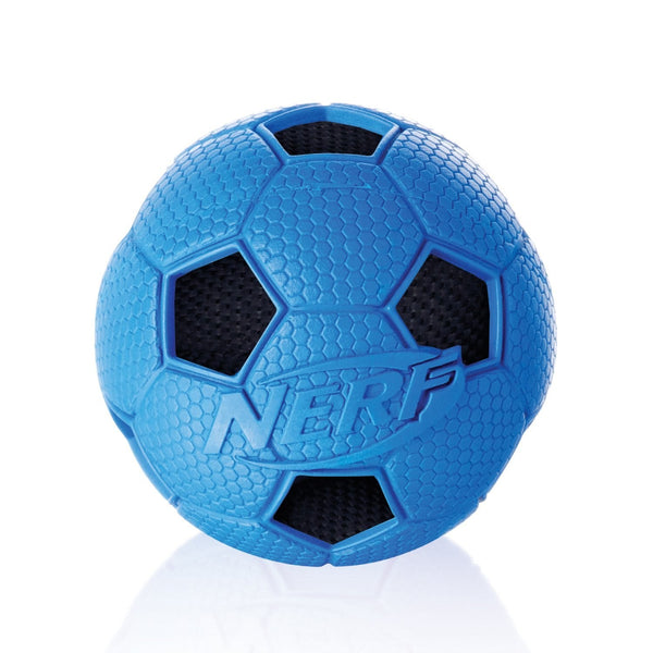 SOCCER CRUNCH SQUEAK BALL RED/BLUE - SMALL (4603586084917)