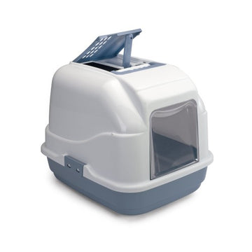 IMAC HOODED CAT TOILET (50 x 40 x 40 cm) -BLUE