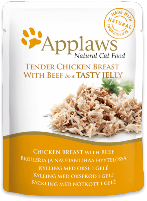 Applaws Cat Chicken with Beef - Jelly Pouch
