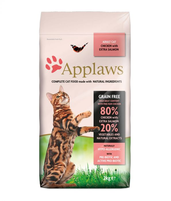 Applaws Chicken & Salmon Dry Adult Cat Food (2KG) (4630547562549)
