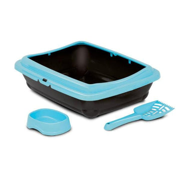 BIRBA KIT (Litter Box + Scoop + Bowl)- Aqua