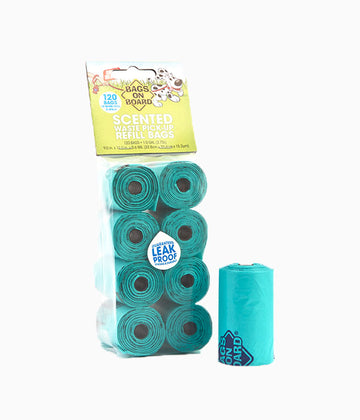 BOB Refill Bags Scented Green Roll 120 bags(8×15)