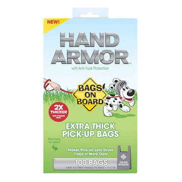 BOB Hand Armor with Extra Thick Pick Up Bags (100bags)