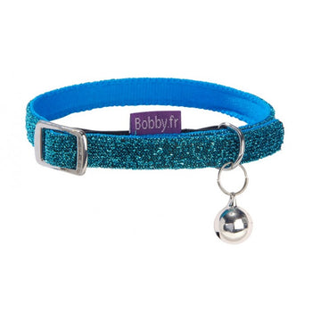 DISCO CAT COLLAR - BLUE