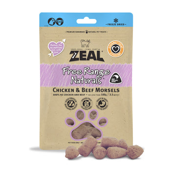 Zeal Dried Chicken & Beef Morsels (Cat) 100g