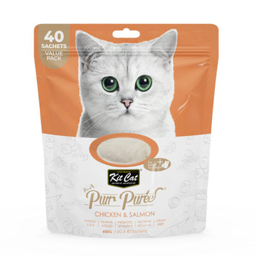 Kit Cat Purr Puree Chicken & Salmon (40 Sachets Value Pack)