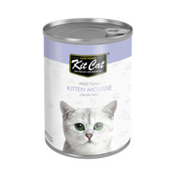 Kit Cat Wild Tuna Kitten Mousse Canned Cat Food (400g)
