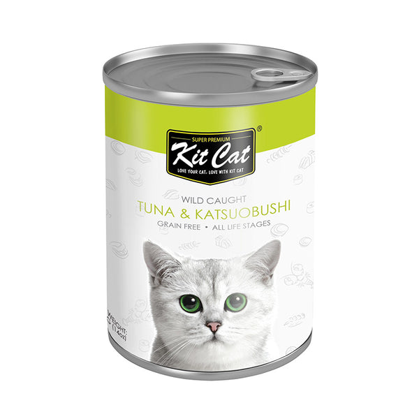 Kit Cat Wild Caught Tuna with Katsuobushi Canned Cat Food (400g) (4597824618549)