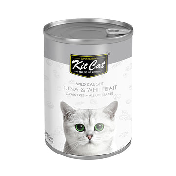 Kit Cat Wild Caught Tuna with Whitebait Canned Cat Food (400g)