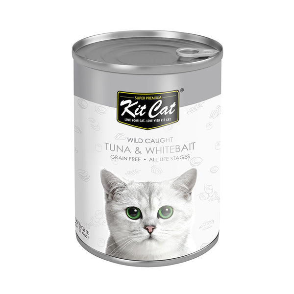 Kit Cat Wild Caught Tuna with Whitebait Canned Cat Food (400g) (4597825699893)