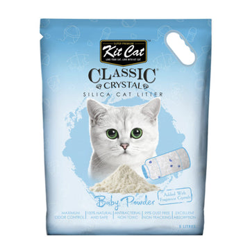 Kit Cat Classic Crystal Cat Litter – Baby Powder (5 Litres)