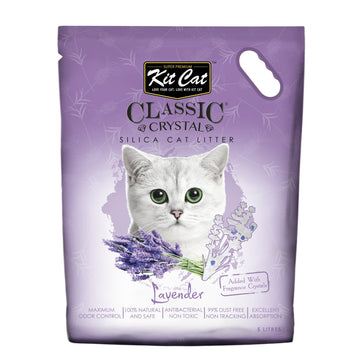 Kit Cat Classic Crystal Cat Litter – Lavender (5 Litres)